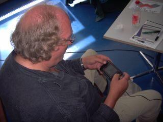 MALZ playing BPS Tetris on the GP2X